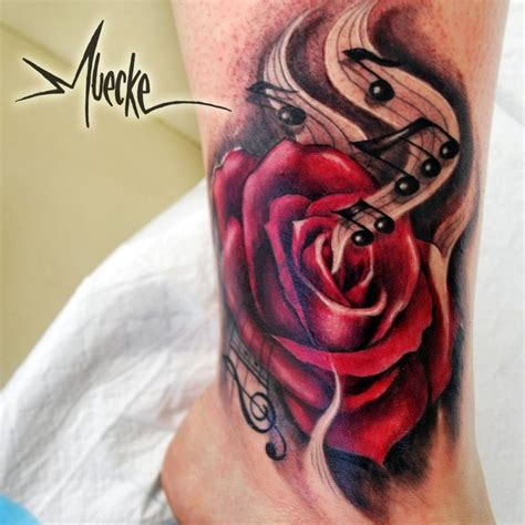 treble clef with rose tattoo 25 best ideas about treble clef on