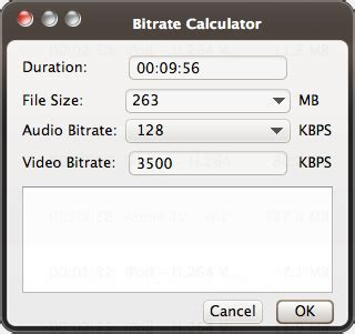 video format file size calculator imtoo video converter ultimate for mac guide video file