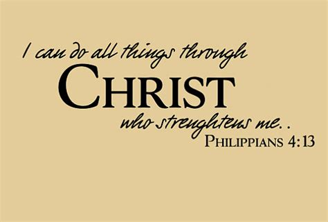 Wedding Bible Verses Philippians by Philippians 4 13 Bible Verse Decal Marriage Wall Decal
