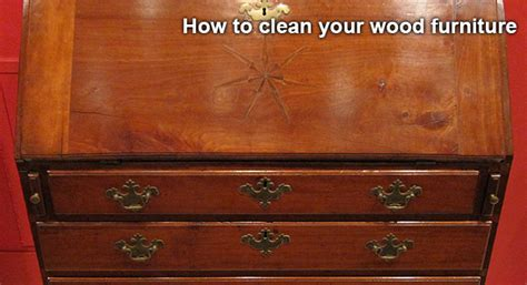 how to clean your wood furniture