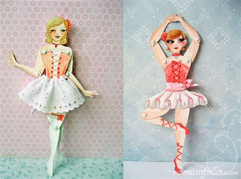 Make Paper Doll - my paper dolls 2 jointed watercolor paper dolls i made