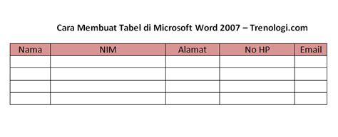 membuat tabel html rata tengah cara membuat tabel di microsoft word 2007 dailysocial