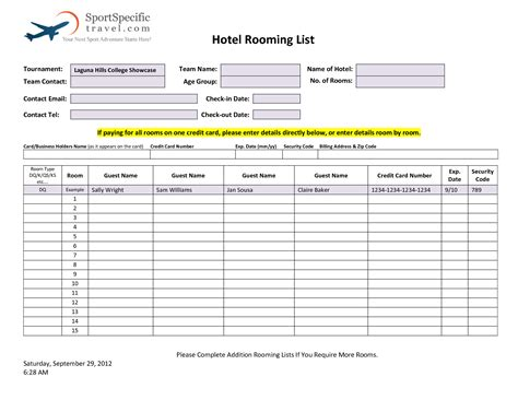 hotel rooming list template best photos of blank hotel rooming list hotel log book