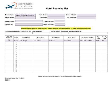 hotel room information booklet sample hotel information