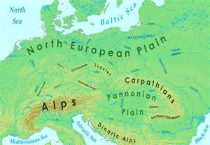Map Of Europe Mountains by Europe Mountains Map
