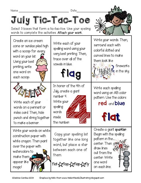 tic tac toe homework template sailing through 1st grade