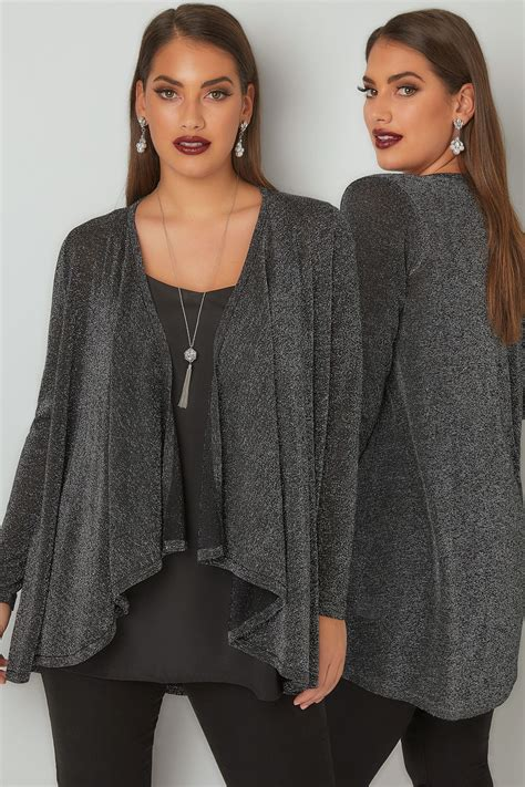 Does A Temporary Restraining Order Show Up On A Background Check Silver Metallic Waterfall Cardigan Plus Size 16 To 36