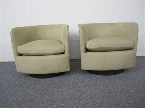 barrel chairs swivel rocker fabulous pair of signed milo baughman lucite clad swivel