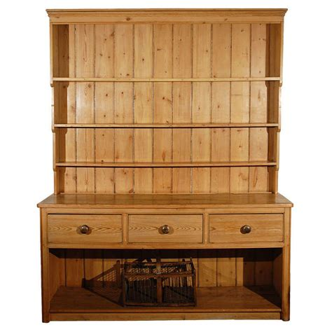 Dressers With Shelves larger pine dresser with drawers and open shelves at 1stdibs