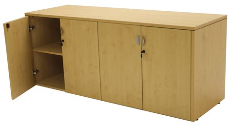 Lockable Credenza maple u shaped reception desk w frosted glass panel hutch