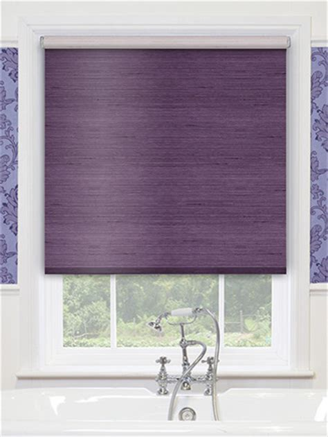 Decorative Window Shades Blinds Premier Decorative Roller Shades In Villa Plum