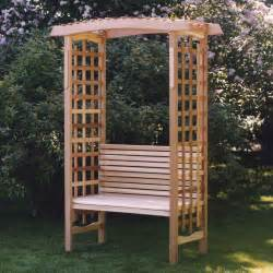 garden bench with trellis garden arbor by all things cedar pergola furniture