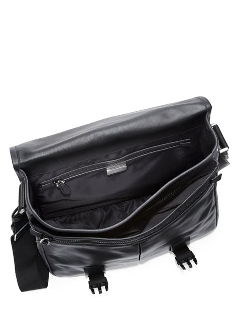 Givency Mesenggery givenchy obsedia leather messenger bag in black for lyst
