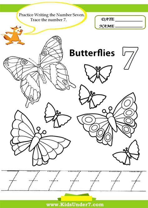 kids under 7 free printable kindergarten number kids under 7 number tracing 1 10 worksheet part 1