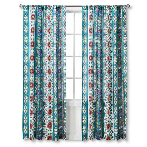mudhut curtains kids oddette window panel teal coral target