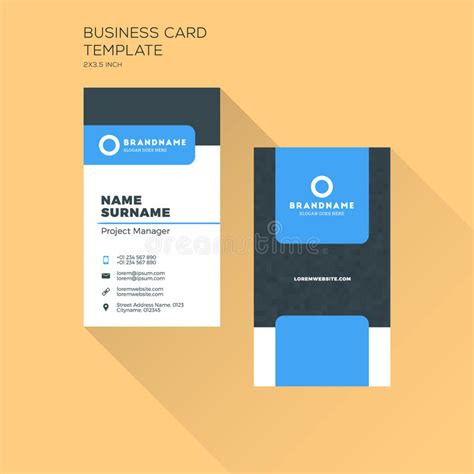 Business Card Appointment Clean Template Design Illustrator by Vertical Business Card Print Template Personal Business