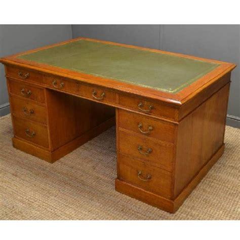 Oak Partners Desk by Stunning Quality Antique Scottish Oak Partners