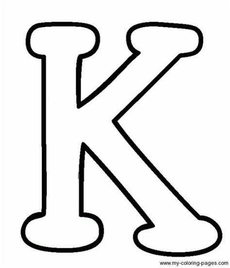 printable alphabet letters applique coloring capital letters k holiday pinterest