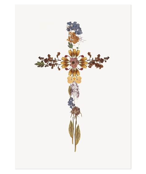 pressed flower cross print the adventures of
