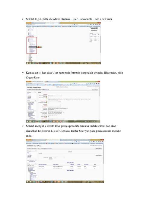 cara membuat website e learning e learning cara membuat user di moodle