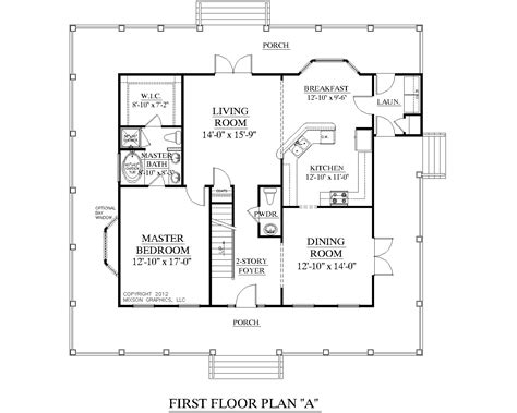 Rambler House Style by Southern Heritage Home Designs House Plan 2051 A The