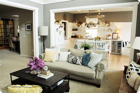 Open Living Room And Kitchen Furniture Placement Home Tour Jones Design Company