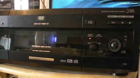dvd cassette player sony dvp cx875p dvd player dvd cd 300 disc s player