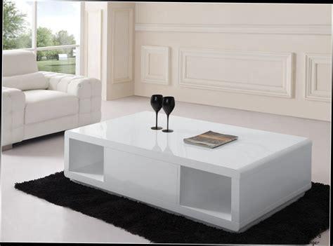 table basse plateau relevable blanche table basse design blanc laque avec 2 niches et 1 tiroir