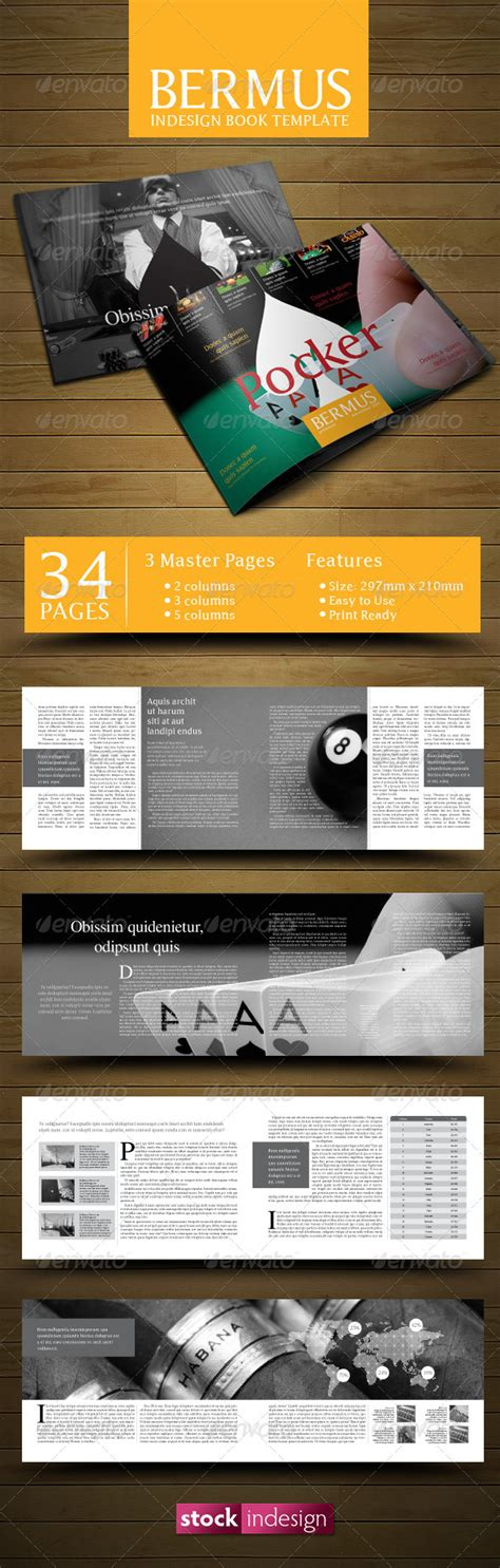 Indesign Book Template Bermus Graphicriver Indesign Graphic Novel Template