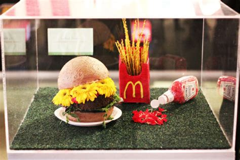 floral food photo of the day burger fries and ketchup flower