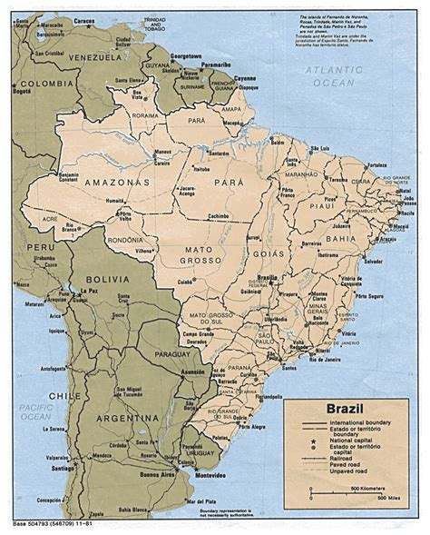brazil map detailed political map of brazil with all cities brazil