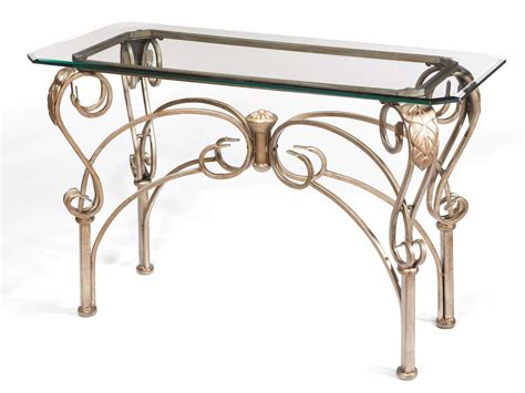 iron and glass sofa table wrought iron sofa table homesfeed