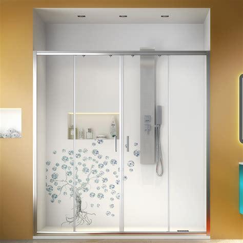 nicchia doccia cristallo nicchia doccia 160 cm apertura centrale scorrevole 185h cm