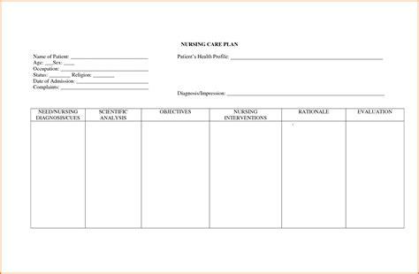 nursing plan template 15 nursing care plan template plantemplate info