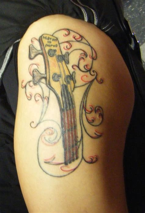 bass guitar tattoo traditional bass guitar www pixshark images
