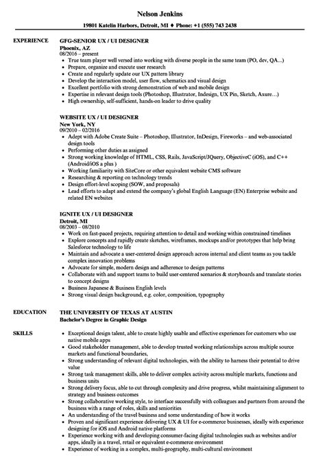Interface Developer Sle Resume by Ui Architect Sle Resume Conference Services Manager Sle Resume