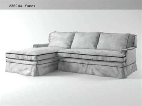 belgian classic roll arm sofa belgian classic roll arm 3d modell restoration hardware