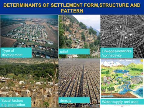 types and pattern of urban settlement urban morphology