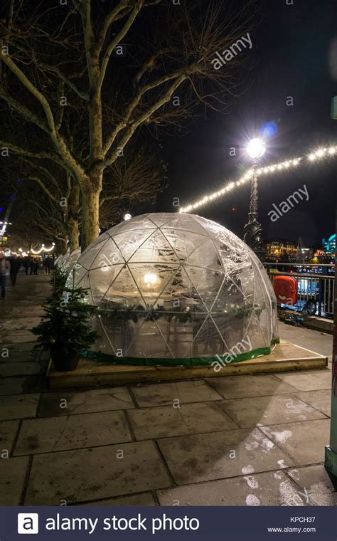 dine in a heated igloo on the banks of london s river geodesic domes stock photos geodesic domes stock images