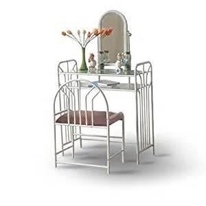 Glass Bedroom Vanity Set White Makeup Mirror Bedroom Vanity Set With