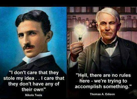 Tesla Vs Eddison Quotes About Edison Tesla Quotesgram