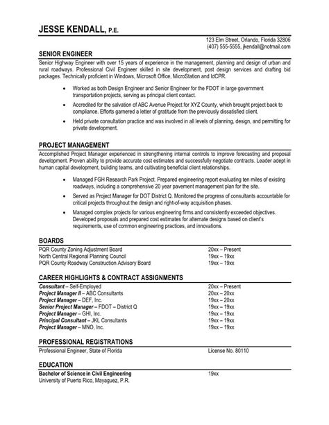 Resume Template by 7 Sles Of Professional Resumes Sle Resumes