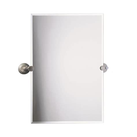 beveled bathroom mirrors frameless shop gatco tiara 23 5 in w x 31 5 in h rectangular tilting