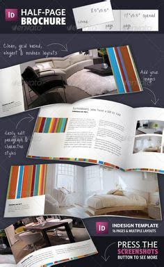 Half Page Brochure Indesign Template Graphicriver Half Page Brochures Are A Great Way Of Indesign 5 5 Templates