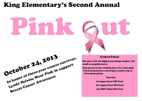 Cici S Gift Card - upcoming event pink out king elementary school
