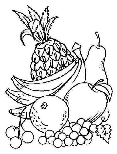 free coloring pages of fruit characters