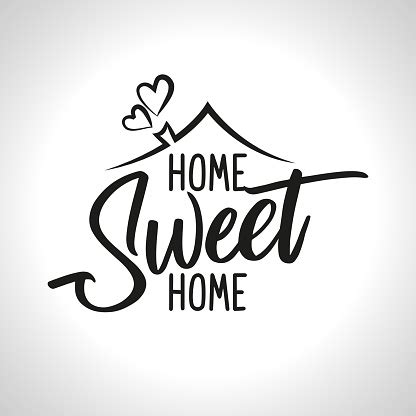 home sweet home typography poster stock illustration