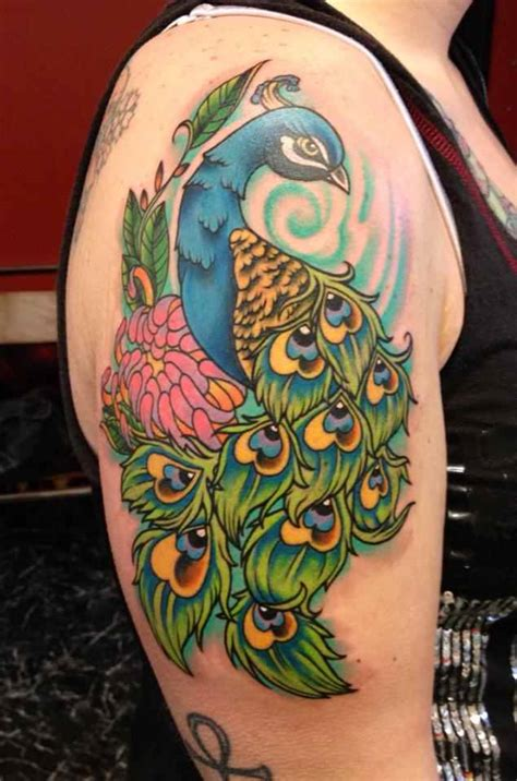 peacock back tattoo designs peacock on shoulder design of tattoosdesign of