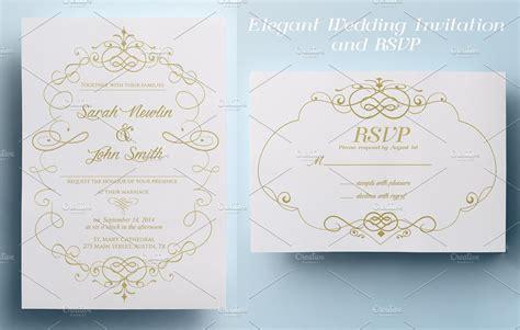 free printable wedding invitations and rsvp elegant wedding invitation and rsvp invitation templates