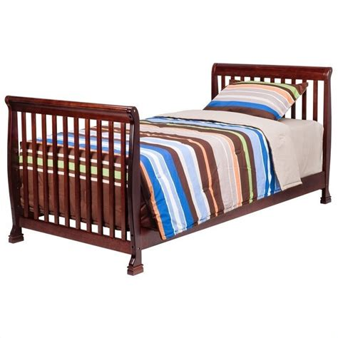 Convertible Mini Cribs Davinci Kalani Mini 2 In 1 Convertible Crib With Changing Table In Cherry M5598c M5555c Pkg